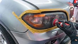 BMW X5 Headlight Restoration Sanding at MDRN Retrofits