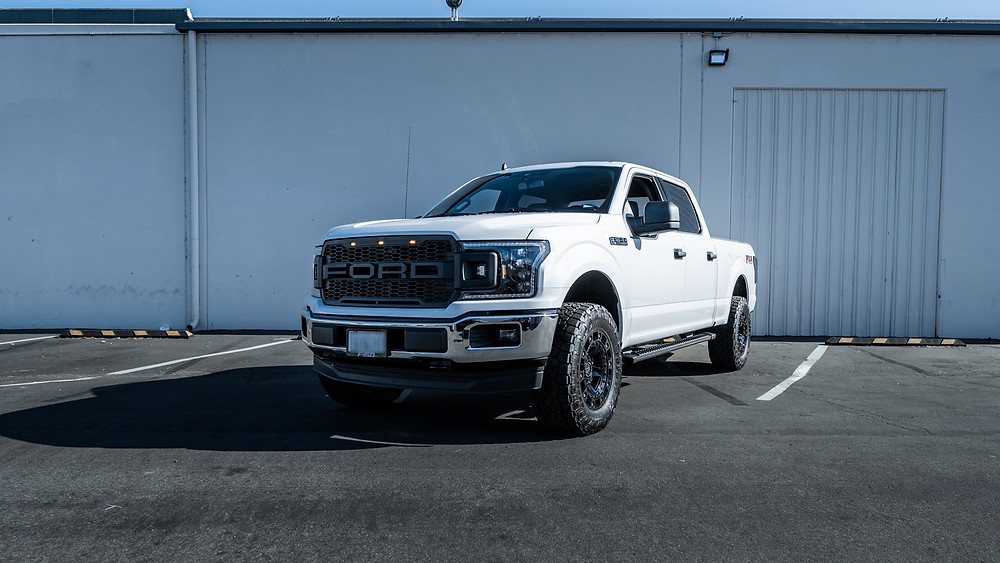 2020 Ford F-150 with Morimoto XB LED headlights and Raptor style grilleinstalled by MDRN Retrofits