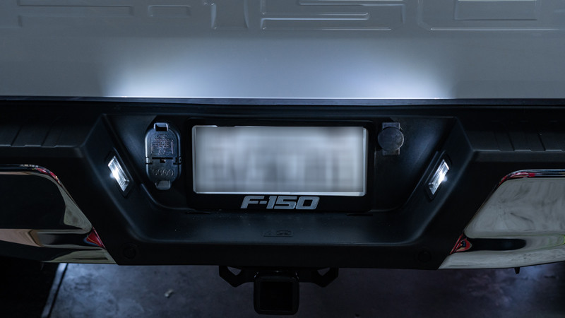 2020 Ford F-150 with Diode Dynamics LED license plate lightsinstalled by MDRN Retrofits