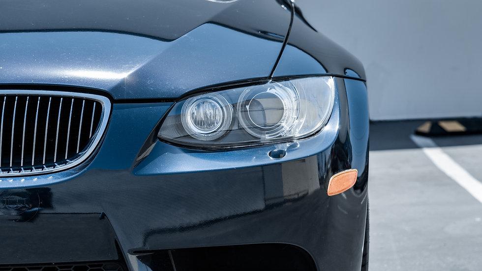 BMW E92 M3 Headlight Restoration Service with Ceramic Coating at MDRN Retrofits