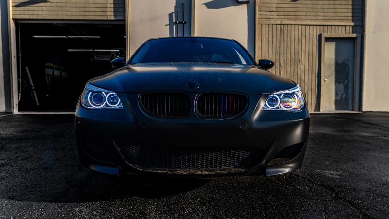 Pro Package Headlight retrofit completed on a BMW E60 M5 V10 by MDRN retrofits