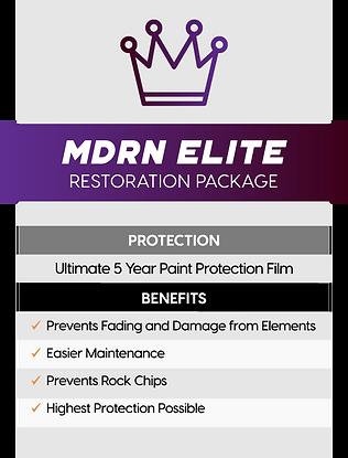 MDRN Retrofits Elite headlight restoration package service