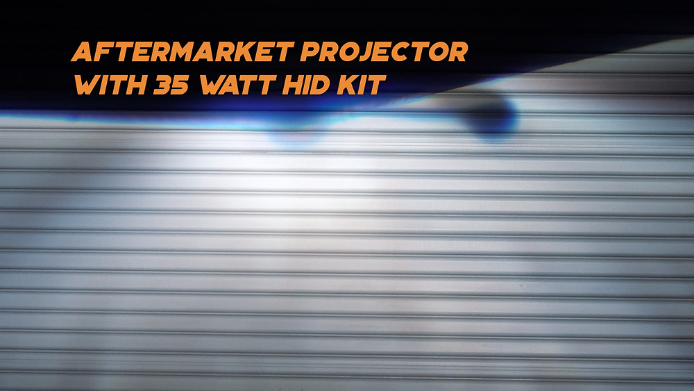 Aftermarket Ebay Projector Headlight With HID Kit Light Output Lux Measurement at MDRN Retrofits