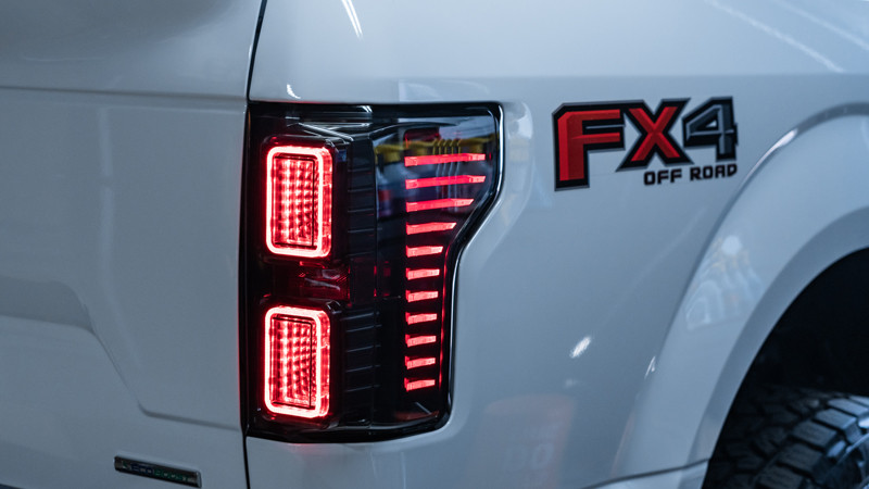 2020 Ford F-150 with Morimoto XB LED tail lights installed by MDRN Retrofits