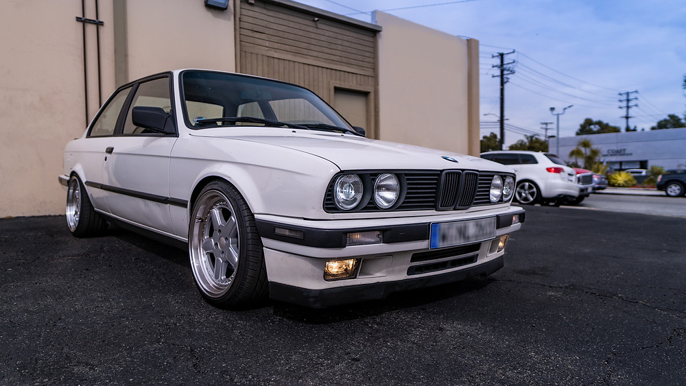 BMW E30 with Morimoto Elite HID Kit and DEPO Smiley Headlights Installed at Modern Retrofits in Costa Mesa
