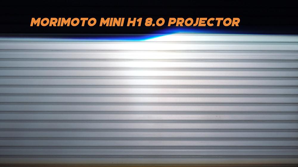 Morimoto Mini H1 8.0 Headlight Retrofit Projector Light Output Lux Measurement at MDRN Retrofits