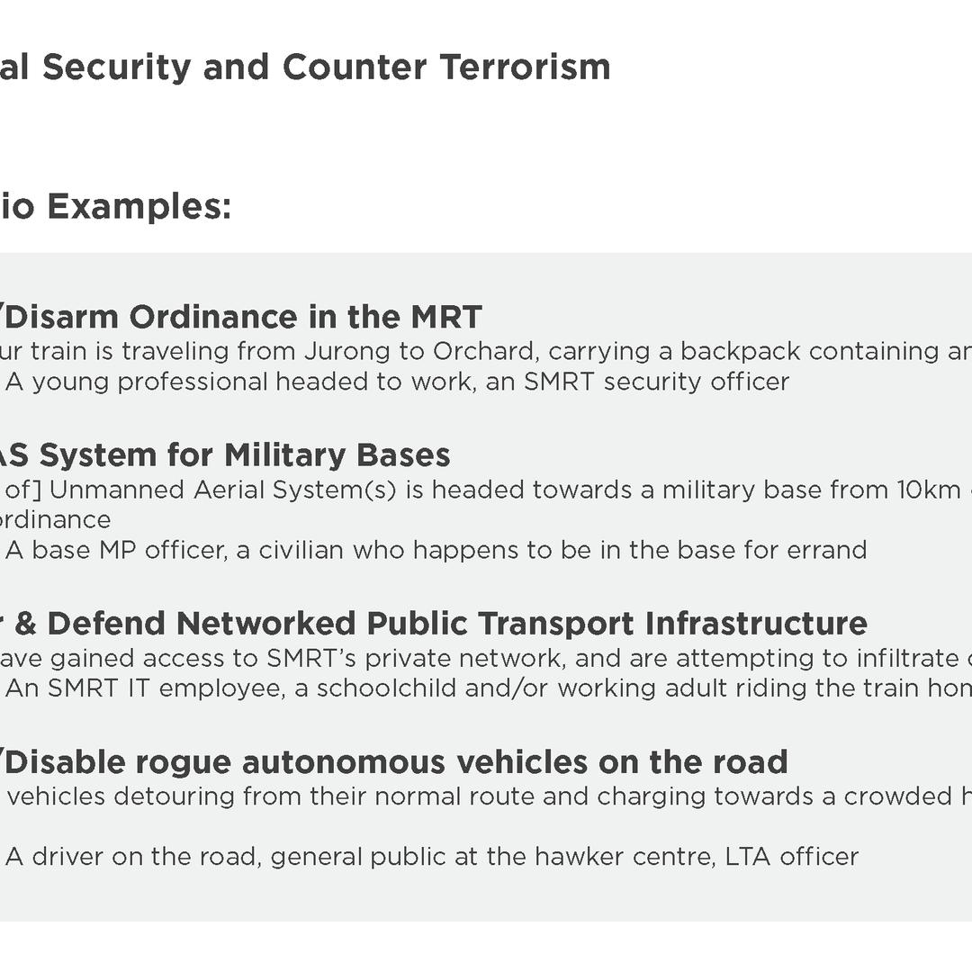 Counter Terrorism Scenarios
