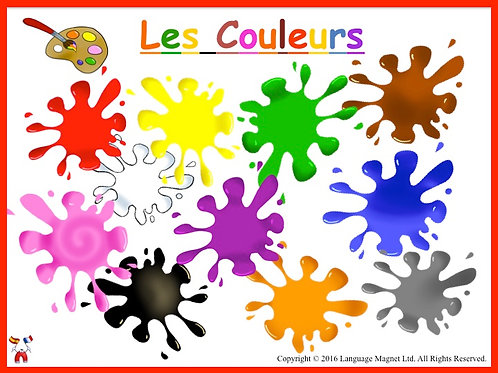 French Colours Presentation, Audio Sheet and Activity Sheet