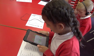 Language Magnet audio sheets being used with ipads