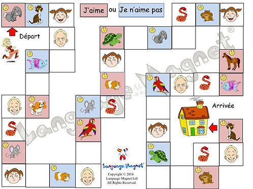 French Pets & Opinions Board Game