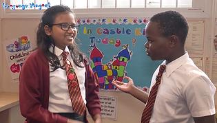 Pupils enjoying the Language Magnet role-plays