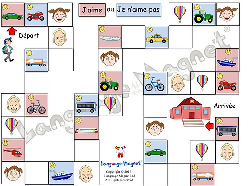 French Transport Opinions Board Game