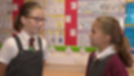 pupils practising a French role-play