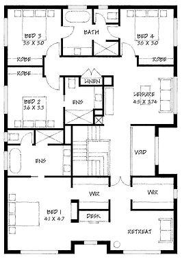 Hamptons first floor plan
