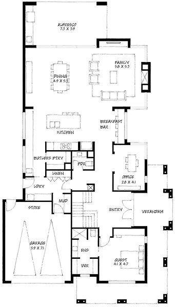Hamptons ground floor plan
