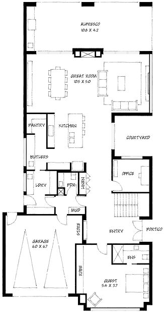 Urban Prairie ground floor plan
