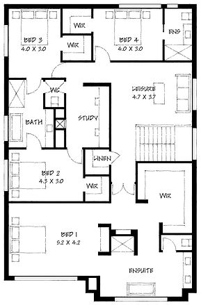 Urban Prairie first floor plan
