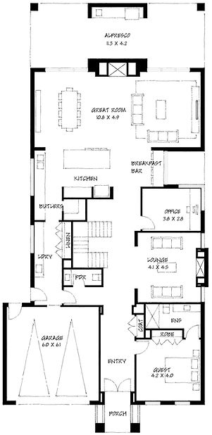 Georgian ground floor plan