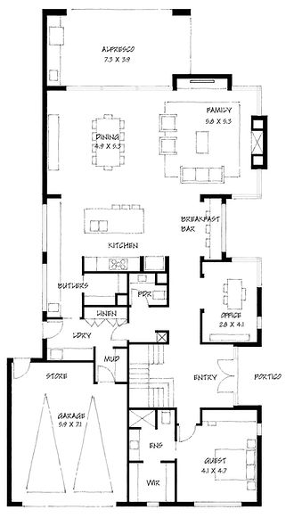 Minimalist 49 ground floor plan