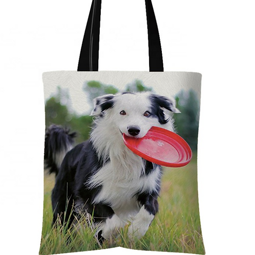 Ghost - Border Collie Tote Bag