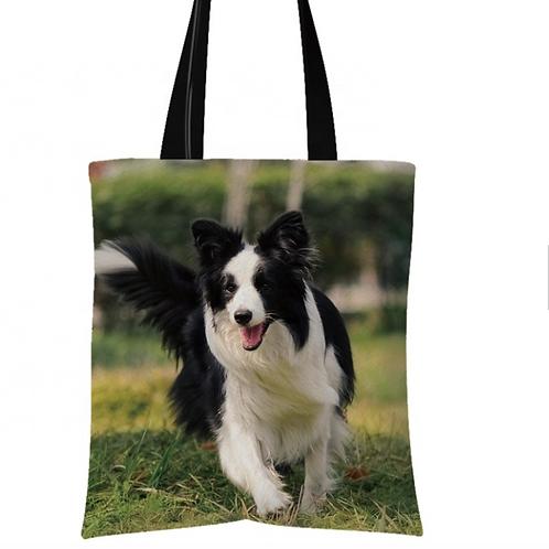 Poppy - Border Collie Tote Bag