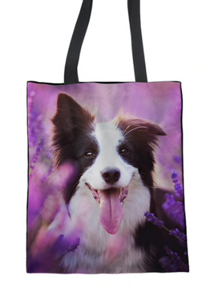 Lolly - Border Collie Tote Bag