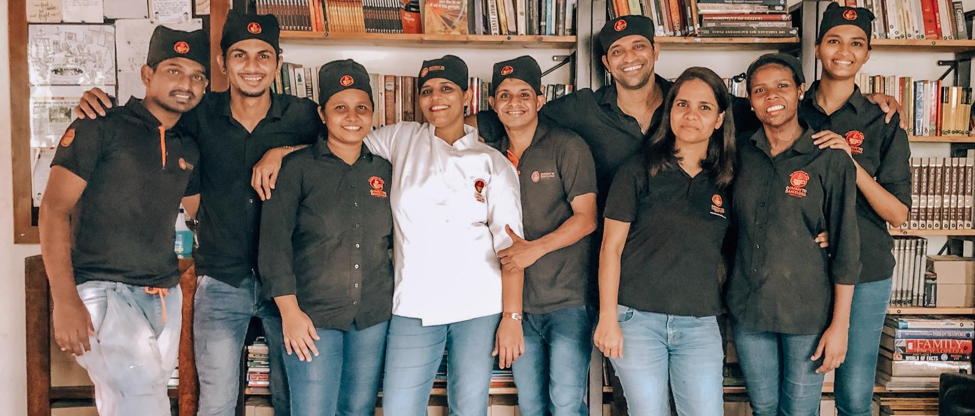 Bombay to Barcelona Library Café Team