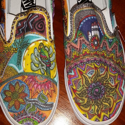 Kim Winter, untitled, shoes, markers.jpg