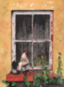 Mills-Wake up call-watercolor-14x11.jpg