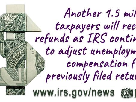 Refunds on Unemployment Compensation