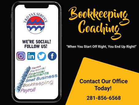 Bookkeeping Coaching! Follow The Road To 2021!
