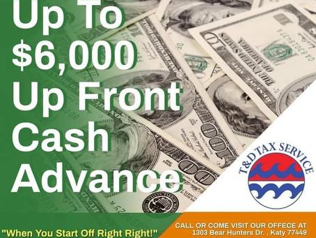 Fast Cash Advance starting January 2, 2021!!