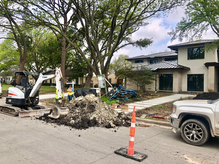 Water Line Connection- Dallas