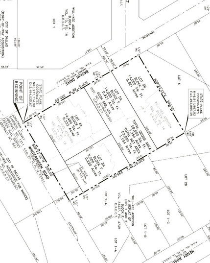 Replat of 1 lot subdivided to 4 lots for Homes $265,000 - $295,000
