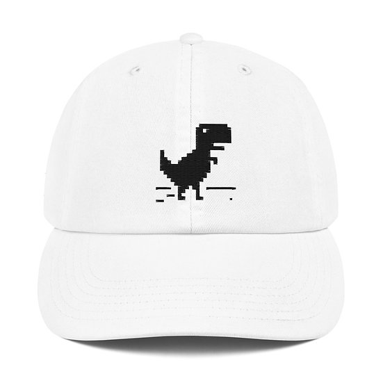No Internet Dinosaur Offline Geek Culture Coding Tech Champion Dad Cap