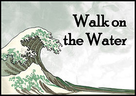 Walk on the Water Logo with Words Color