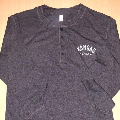 Gray Henley Long-Sleeve Shirt