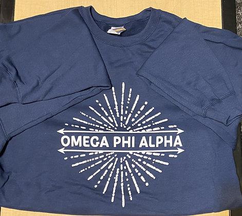 Navy Omega Phi Alpha Crewneck