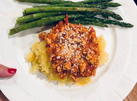 Spaghetti Squash Marinara Ground Turkey Recipe