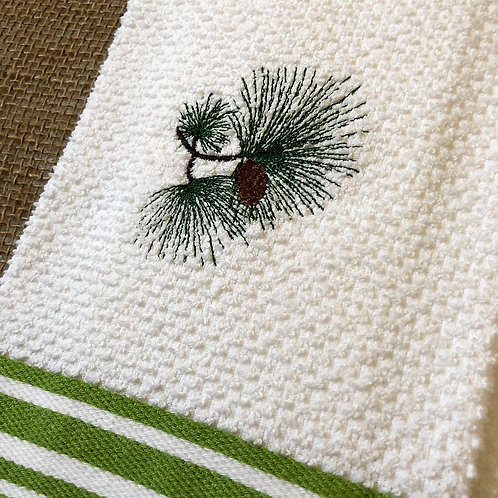 Pine Cone Winter Hand Towel