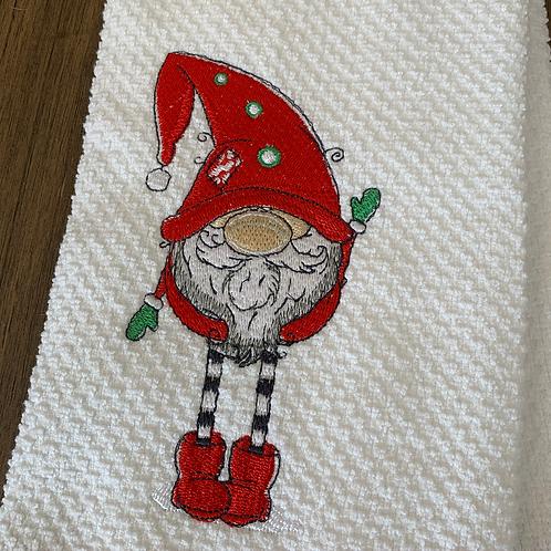 Sweet Gnome in Red Hat and Boots Hand Towel