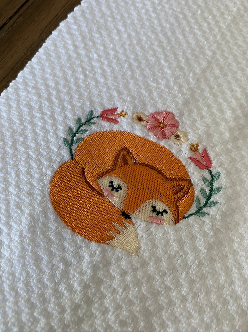 Sleeping Soundly Fox Hand Towel