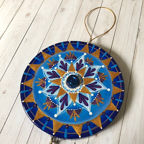 Blue Mandala Hand Painted Ornament