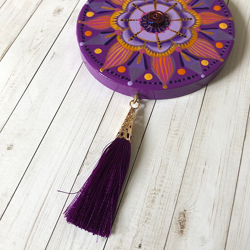 Purple Mandala Hand Painted Ornament