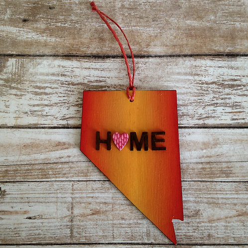 Orange Home Nevada State Ornament