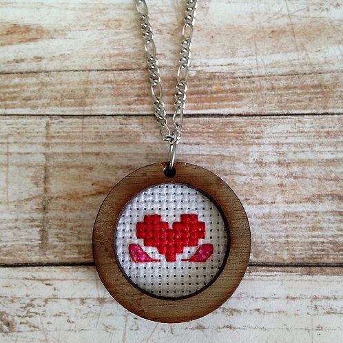 Flutter Heart Pendant Necklace