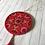 Thumbnail: Red Mandala Hand Painted Ornament