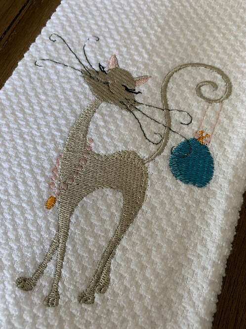Sassy Cat With Purse Hand Towel