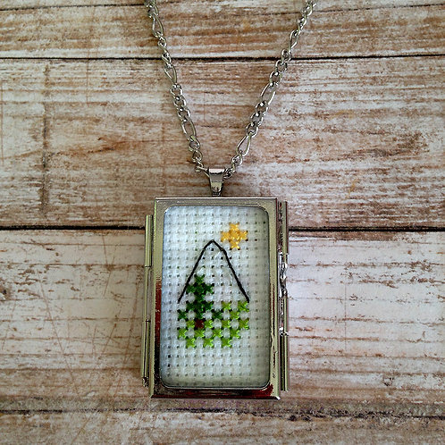 Head For The Mountain Pendant Necklace