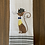 Thumbnail: Gray Top Hat Cat Hand Towel